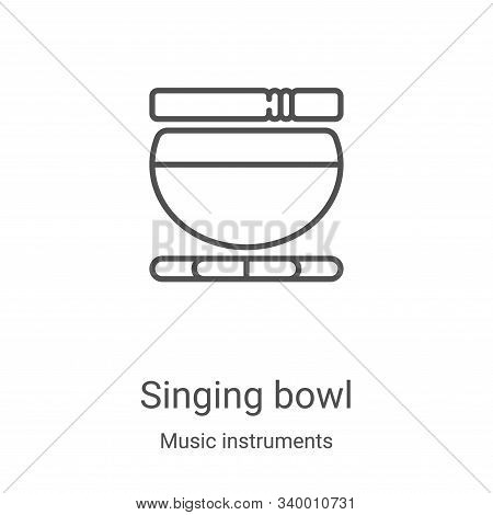 singing bowl icon isolated on white background from music instruments collection. singing bowl icon