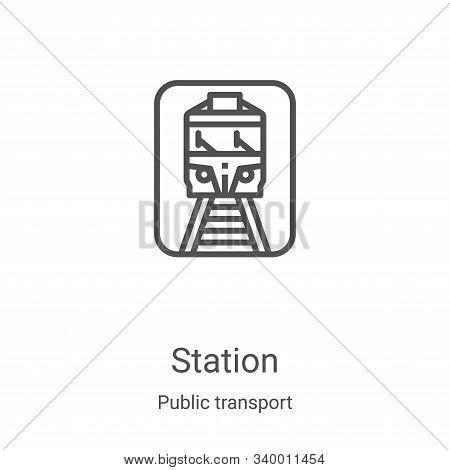 station icon isolated on white background from public transport collection. station icon trendy and