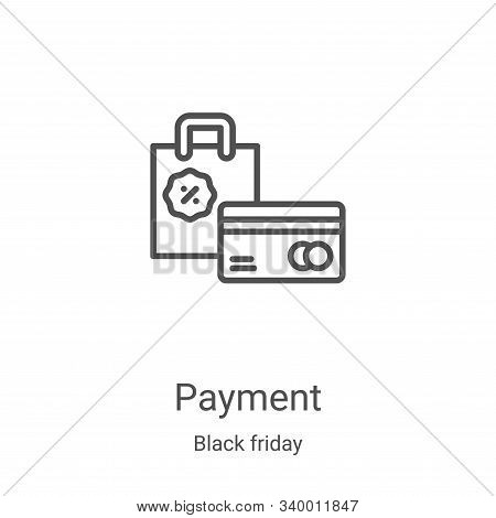 payment icon isolated on white background from black friday collection. payment icon trendy and mode