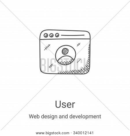 user icon isolated on white background from web design and development collection. user icon trendy