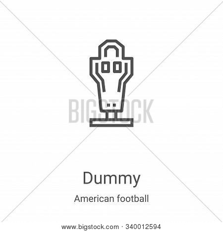dummy icon isolated on white background from american football collection. dummy icon trendy and mod