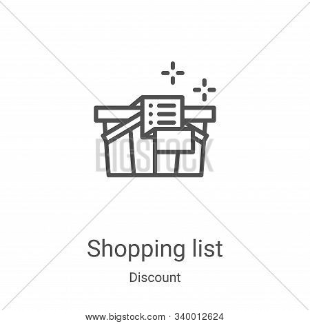 shopping list icon isolated on white background from discount collection. shopping list icon trendy