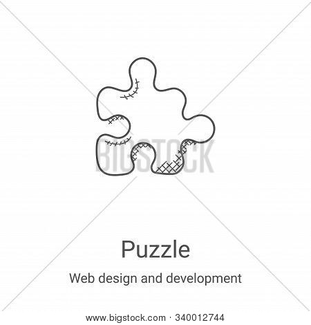 puzzle icon isolated on white background from web design and development collection. puzzle icon tre