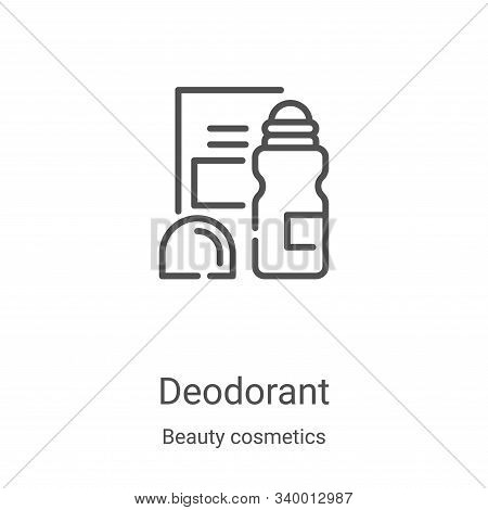 deodorant icon isolated on white background from beauty cosmetics collection. deodorant icon trendy