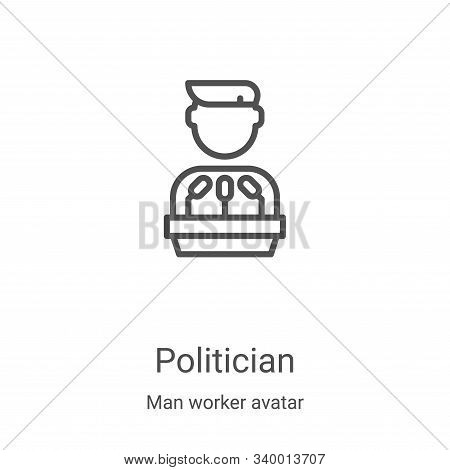 Politician icon isolated on white background from man worker avatar collection. Politician icon tren