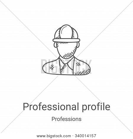 professional profile icon isolated on white background from professions collection. professional pro