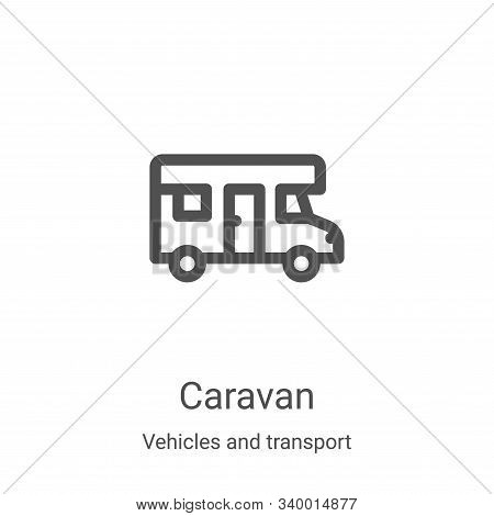 caravan icon isolated on white background from vehicles and transport collection. caravan icon trend