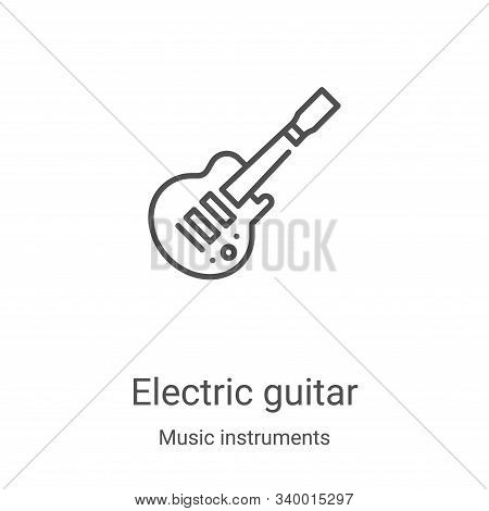 electric guitar icon isolated on white background from music instruments collection. electric guitar