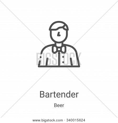 bartender icon isolated on white background from beer collection. bartender icon trendy and modern b