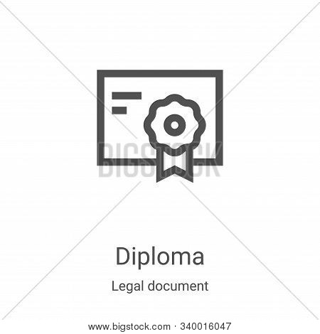 diploma icon isolated on white background from legal document collection. diploma icon trendy and mo