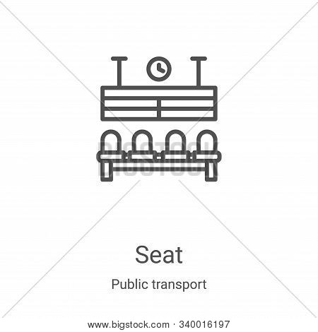 seat icon isolated on white background from public transport collection. seat icon trendy and modern