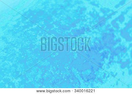 Blue Aqua Turquoise Aquamarine Gradient Color. Concrete Or Beton Pattern, Patchy Background