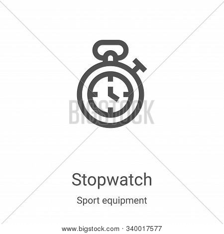 stopwatch icon isolated on white background from sport equipment collection. stopwatch icon trendy a