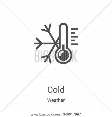 cold icon isolated on white background from weather collection. cold icon trendy and modern cold sym