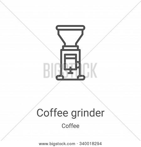 coffee grinder icon isolated on white background from coffee collection. coffee grinder icon trendy