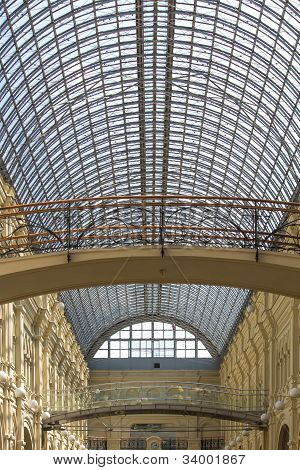 Glass Roof in GUM Moscow