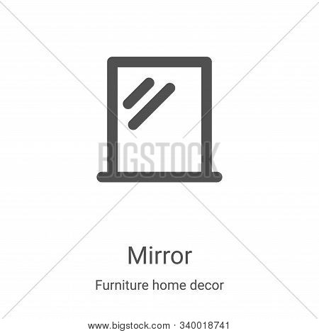 mirror icon isolated on white background from furniture home decor collection. mirror icon trendy an