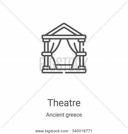 theatre icon isolated on white background from ancient greece collection. theatre icon trendy and mo