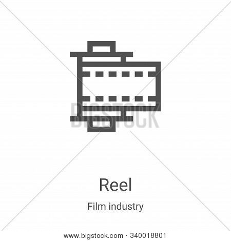 reel icon isolated on white background from film industry collection. reel icon trendy and modern re