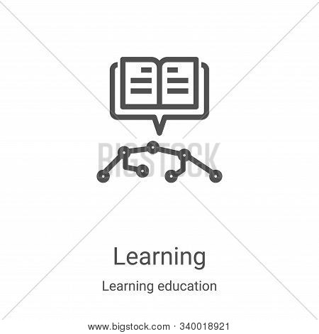 learning icon isolated on white background from learning education collection. learning icon trendy