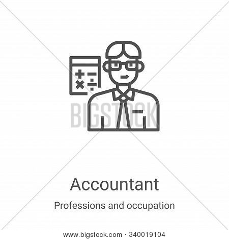 accountant icon isolated on white background from professions and occupation collection. accountant