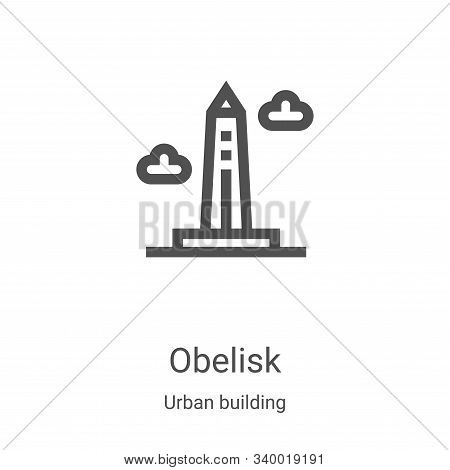 obelisk icon isolated on white background from urban building collection. obelisk icon trendy and mo