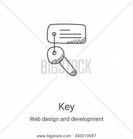 key icon isolated on white background from web design and development collection. key icon trendy an