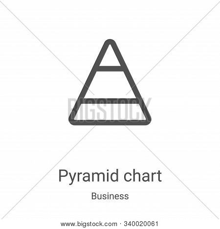 pyramid chart icon isolated on white background from business collection. pyramid chart icon trendy