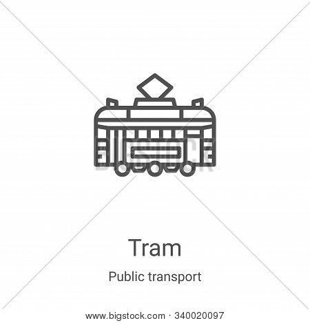 tram icon isolated on white background from public transport collection. tram icon trendy and modern