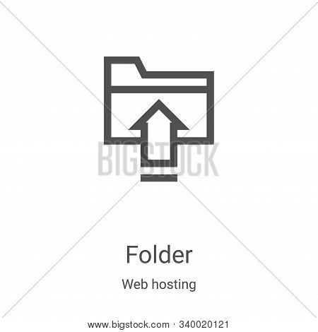 folder icon isolated on white background from web hosting collection. folder icon trendy and modern