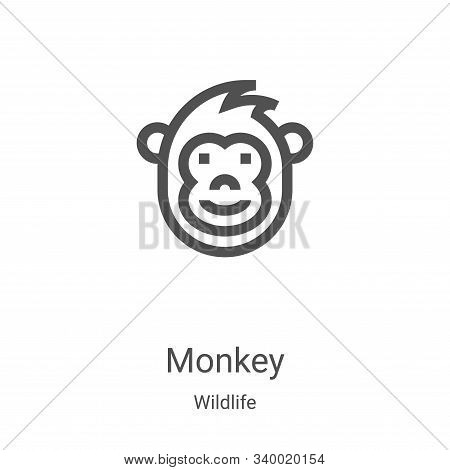 monkey icon isolated on white background from wildlife collection. monkey icon trendy and modern mon