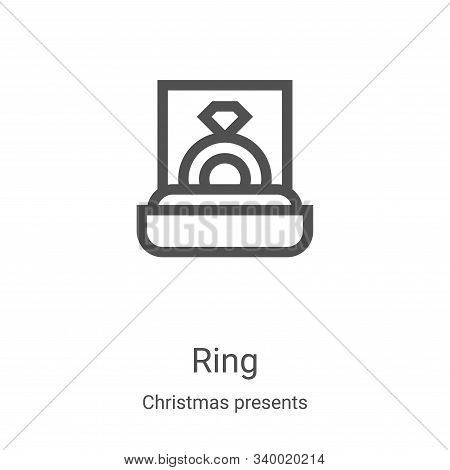 ring icon isolated on white background from christmas presents collection. ring icon trendy and mode