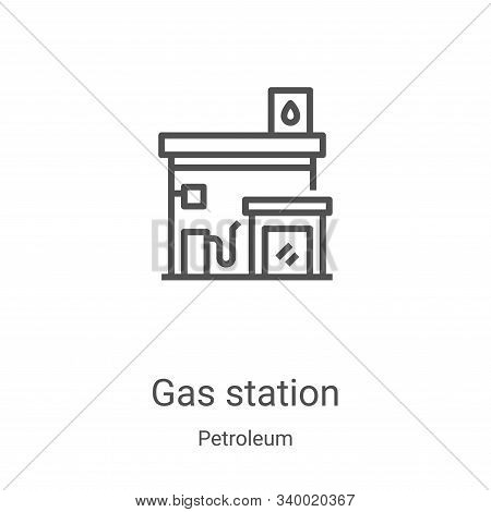 gas station icon isolated on white background from petroleum collection. gas station icon trendy and