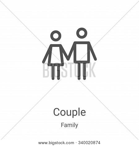 couple icon isolated on white background from family collection. couple icon trendy and modern coupl