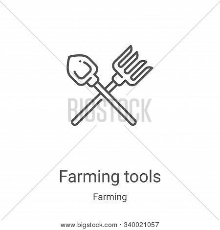 farming tools icon isolated on white background from farming collection. farming tools icon trendy a