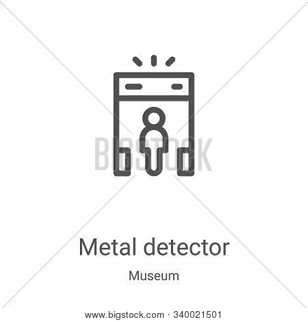 metal detector icon isolated on white background from museum collection. metal detector icon trendy