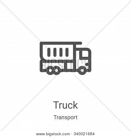 truck icon isolated on white background from transport collection. truck icon trendy and modern truc