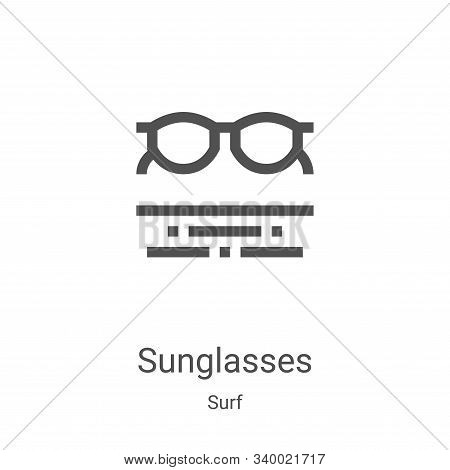 sunglasses icon isolated on white background from surf collection. sunglasses icon trendy and modern