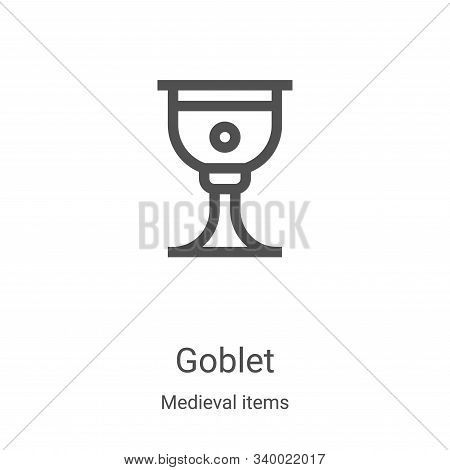 goblet icon isolated on white background from medieval items collection. goblet icon trendy and mode