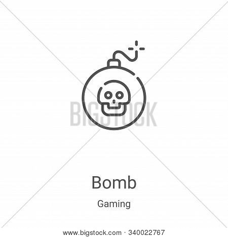 bomb icon isolated on white background from gaming collection. bomb icon trendy and modern bomb symb