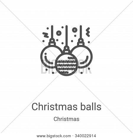 christmas balls icon isolated on white background from christmas collection. christmas balls icon tr