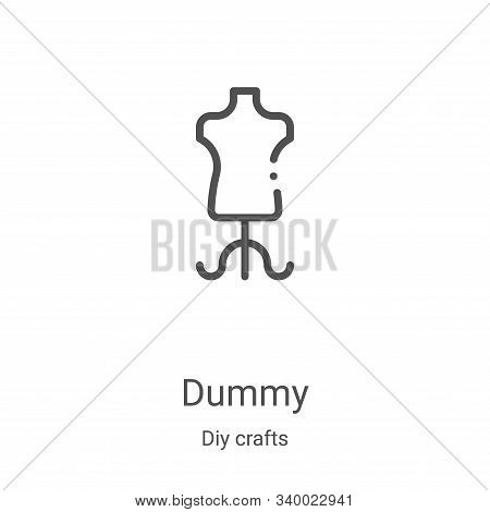 dummy icon isolated on white background from diy crafts collection. dummy icon trendy and modern dum