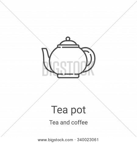 tea pot icon isolated on white background from tea and coffee collection. tea pot icon trendy and mo