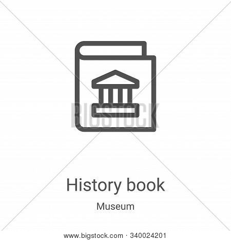 history book icon isolated on white background from museum collection. history book icon trendy and