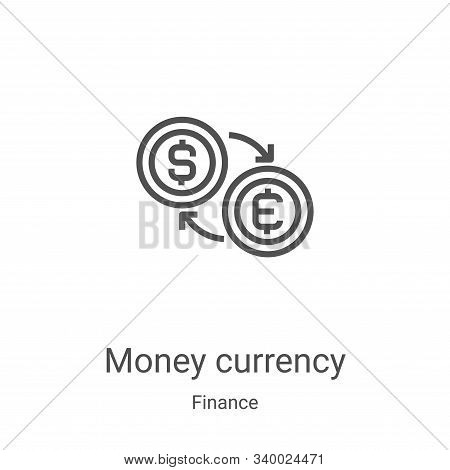 money currency icon isolated on white background from finance collection. money currency icon trendy