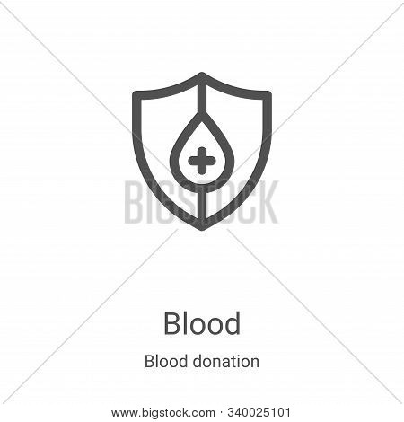 blood icon isolated on white background from blood donation collection. blood icon trendy and modern
