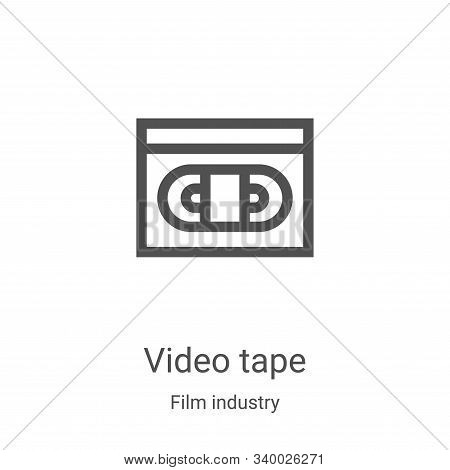 video tape icon isolated on white background from film industry collection. video tape icon trendy a