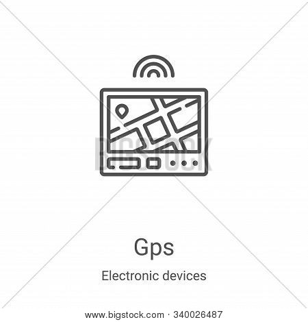 gps icon isolated on white background from electronic devices collection. gps icon trendy and modern