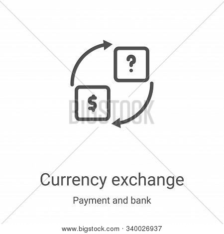 currency exchange icon isolated on white background from payment and bank collection. currency excha