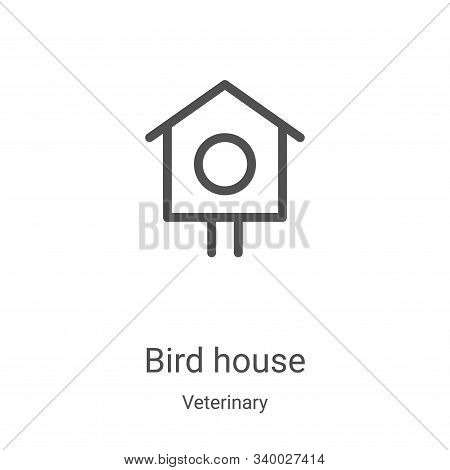 bird house icon isolated on white background from veterinary collection. bird house icon trendy and